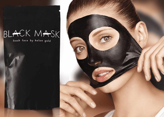 Чёрная маска от прыщей
