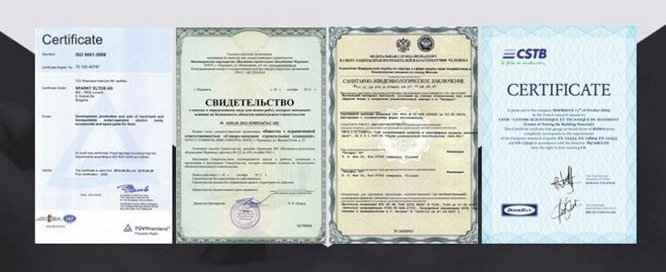 Продукция Titan Gel сертифицирована