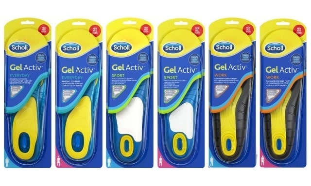 Стельки для обуви Scholl Gel Active