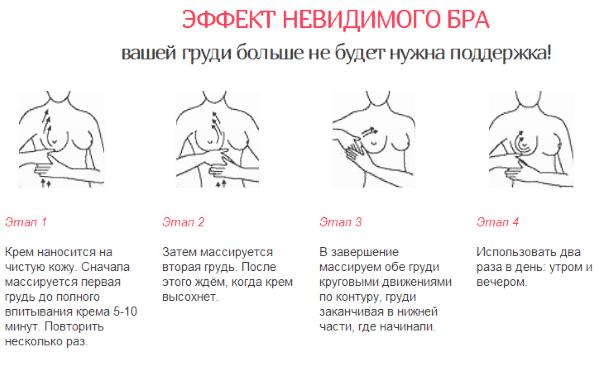 Способ применения крема для увеличения груди Upsize