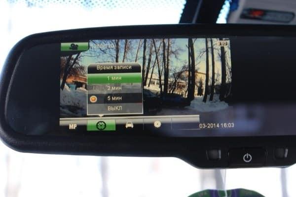 Основные особенности регистратора Car DVR Mirror