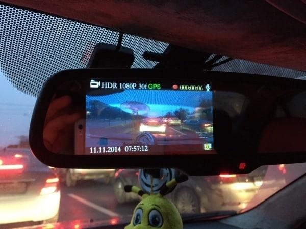 Основные технические характеристики Car DVR Mirror