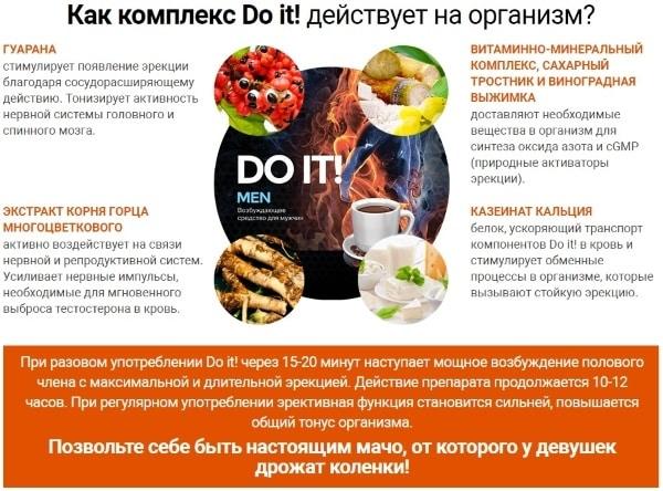 Состав возбудителя для мужчин «Do it!»