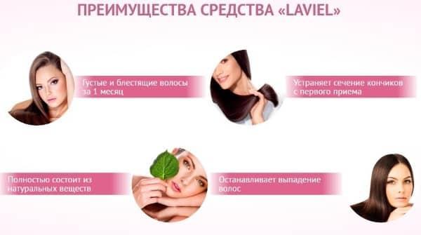 Преимущества средства для волос Лавиэль