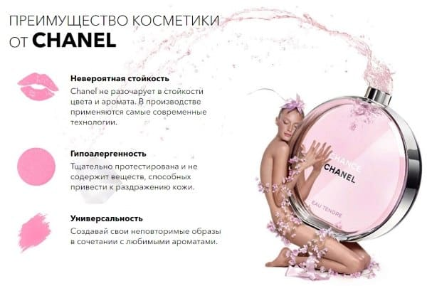 Краткие характеристики косметических средств из набора Chanel
