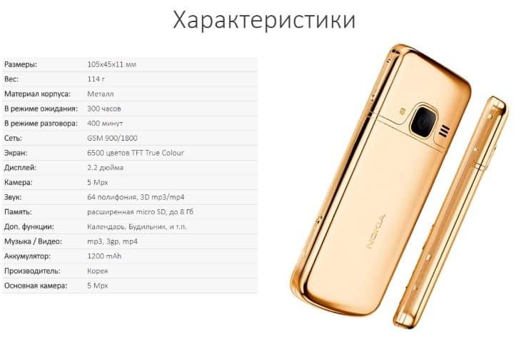 Технические характеристики устройства Nokia 6700