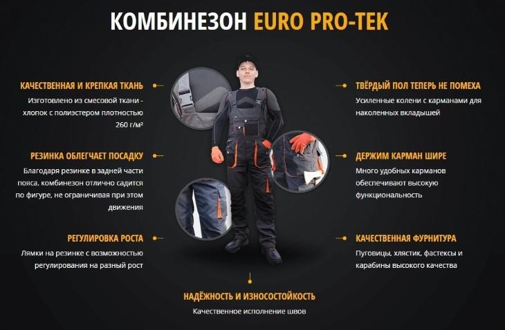 Комбинезон EuroPro-Tek
