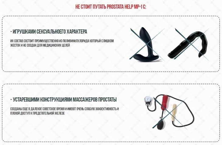 Отличия Prostata help MP-1 от других приспособлений