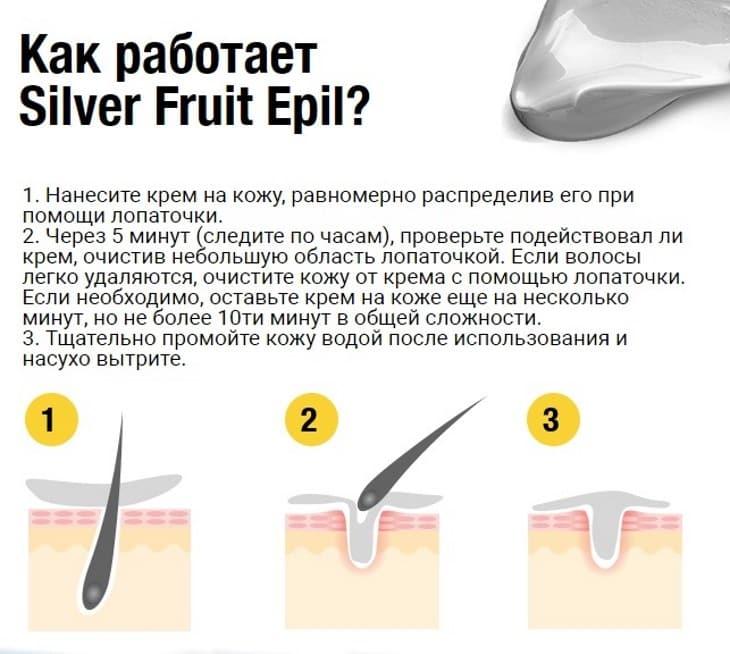 Инструкция по применению Silver Fruits Epil