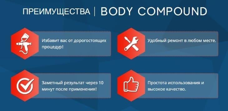 В чем преимущество средства BodyCompound