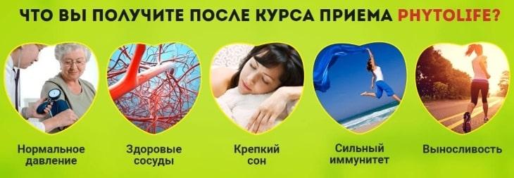 Какой результат будет после приема PhytoLife
