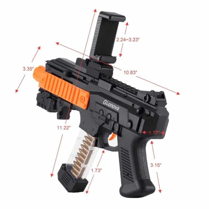 Характеристики устройства AR Game Gun