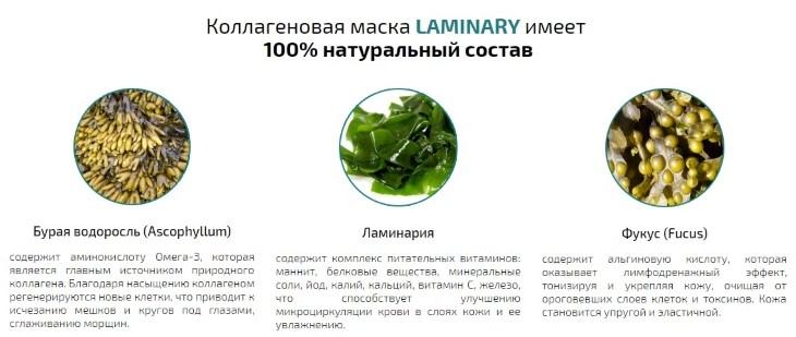 Что входит в состав маски Laminary