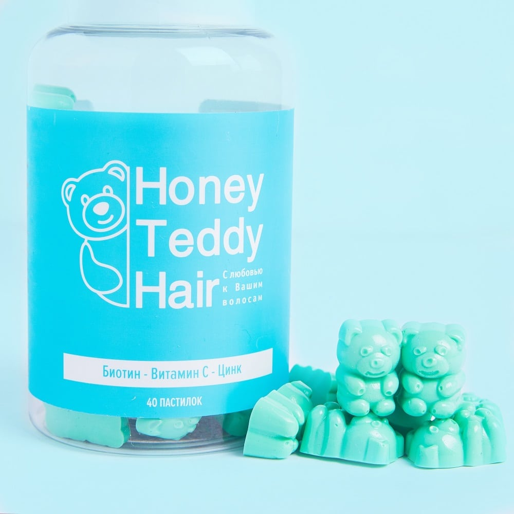 Honey Teddy Hair вкусные витамины для волос