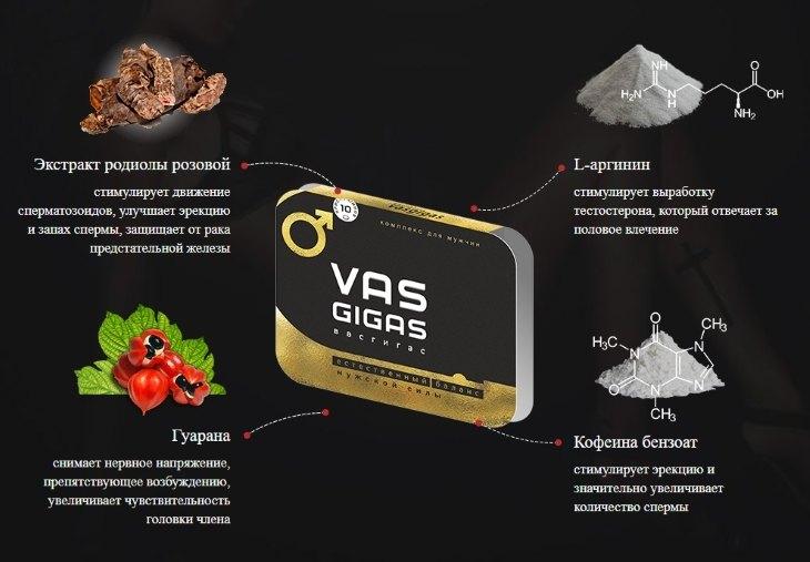 Что входит в состав препарата Vas Gigas