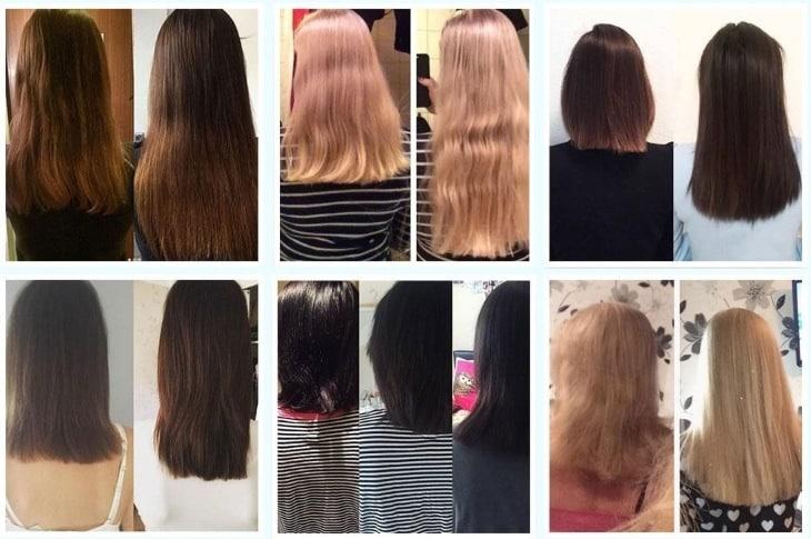 Результаты до и после приема Honey Teddy Hair