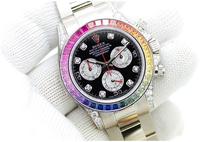 Мой обзор на женские часы Rolex White Gold Daytona Rainbow