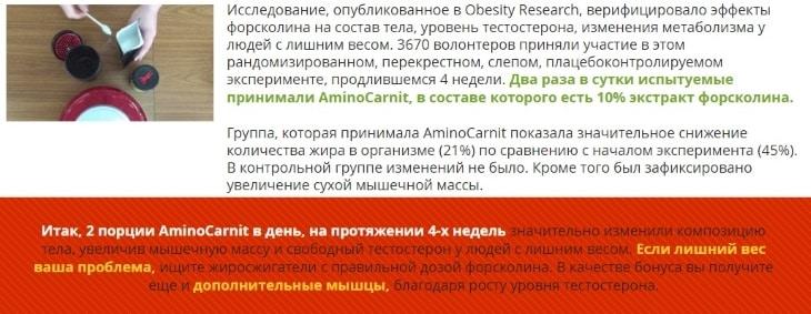 Секреты результативного похудения за 4 недели вместе с Аминокарнит