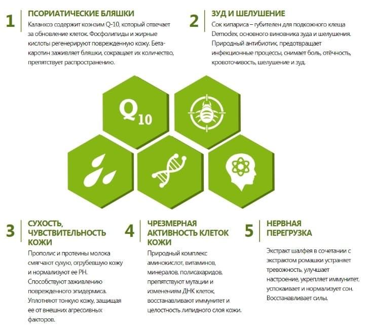 Псорисил устраняет 5 главных проявлений псориаза
