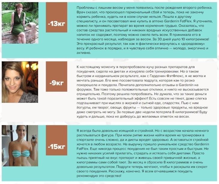 Отзывы на новый комплекс для снижения веса Gardenin FatFlex