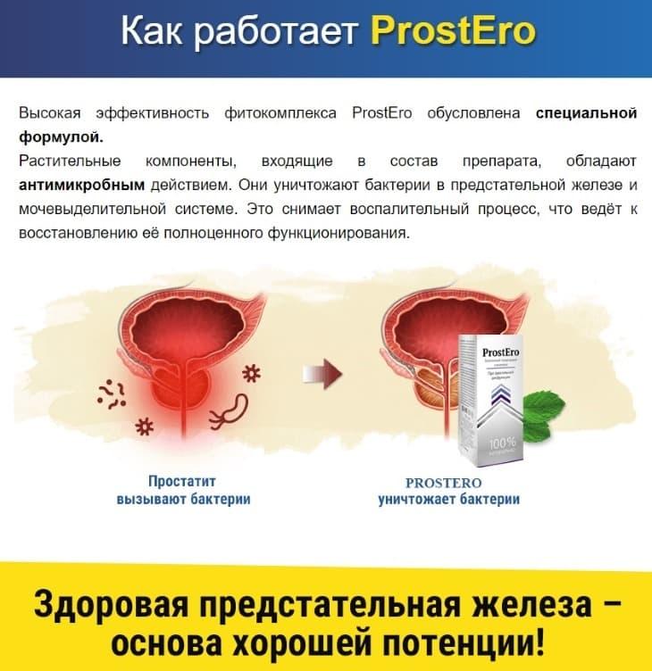 Как препарат ProstEro воздействует на мужской организм?