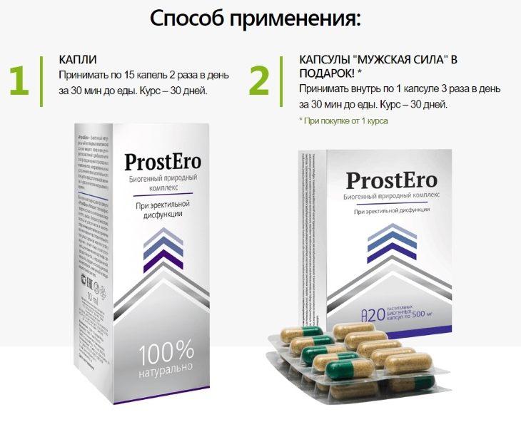 Способ применения ProstEro