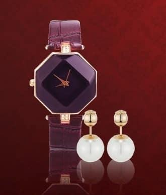 Элитные женские часы Guess + серьги Dior
