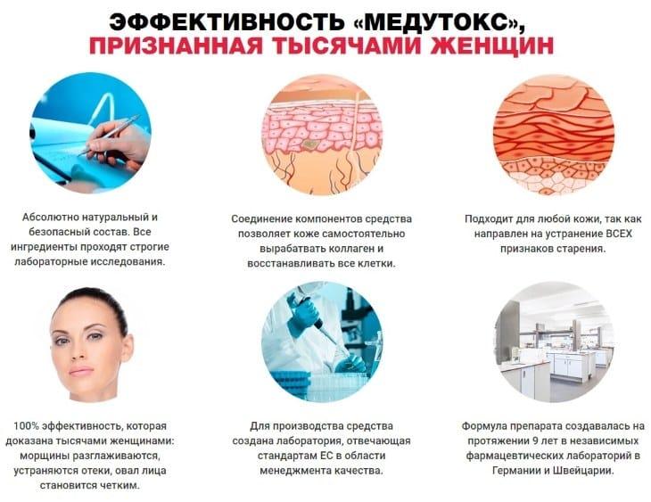 Преимущества препарата Medutox