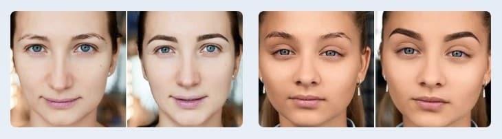 Результаты до и после применения 7 Days Eyebrow Tattoo