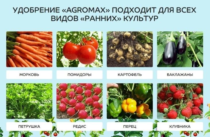 С какими растениями можно использовать Агромакс