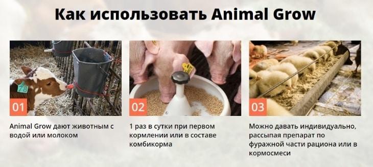 Инструкция по использованию Animal Grow