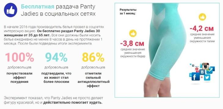 Результаты от ношения леггинсов Panty Jadies