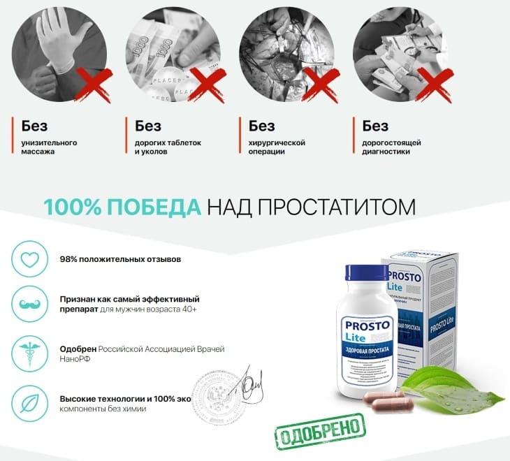 Особенности препарата ProstoLite