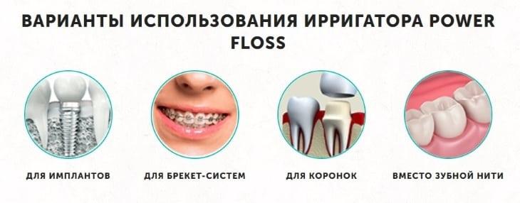 Варианты использования Power Floss