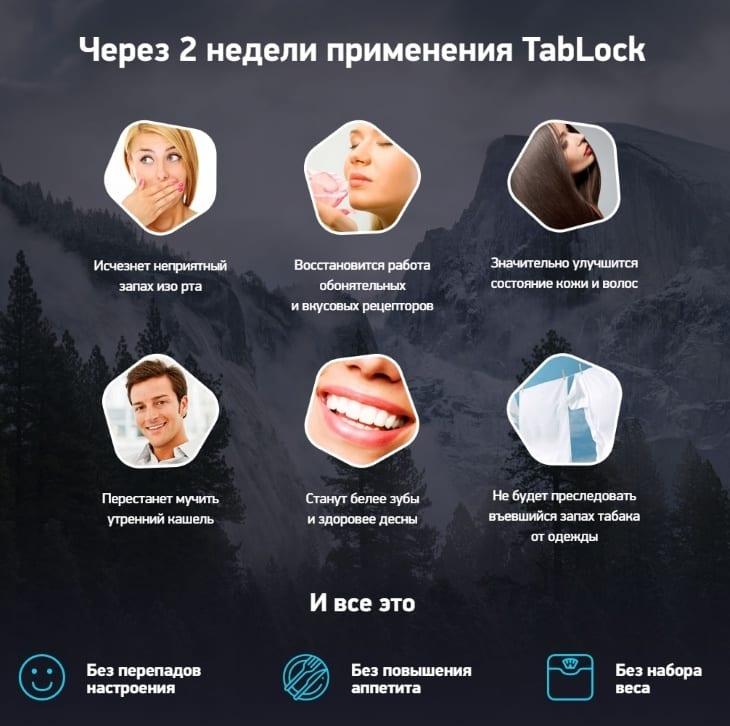 Результат через 2 недели применения средства TabLock
