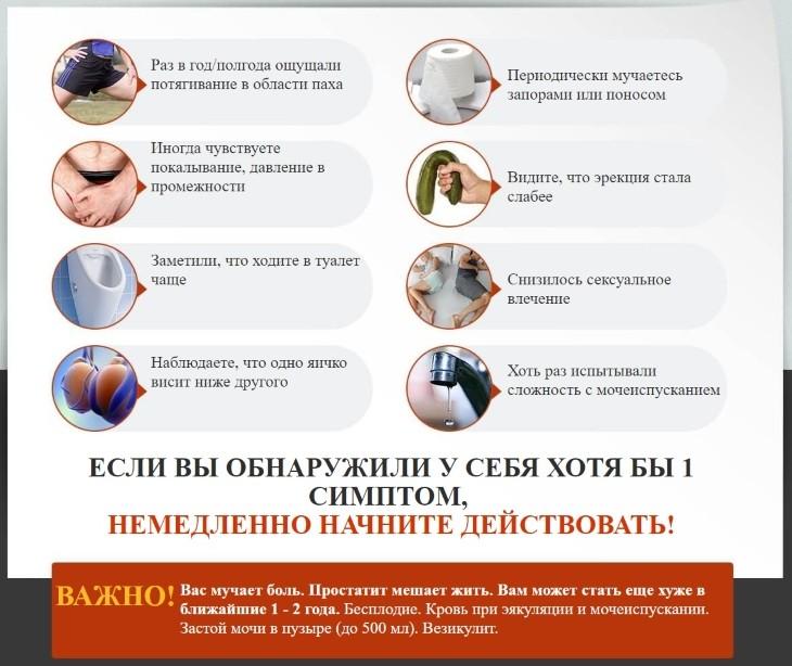 Предвестники простатита