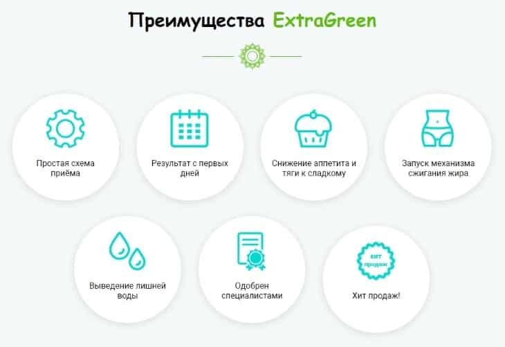 Главные преимущества ExtraGreen