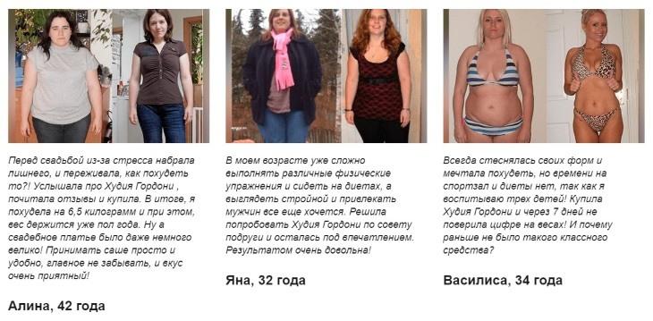 Отзывы на средство для похудения Худия Гордони