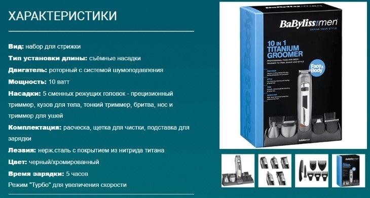 Технические характеристики Titanium Groomer
