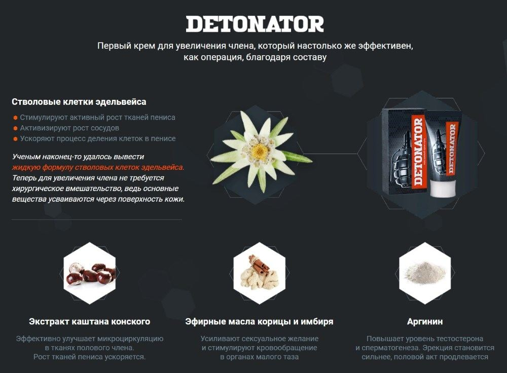 Что входит в состав геля Detonator