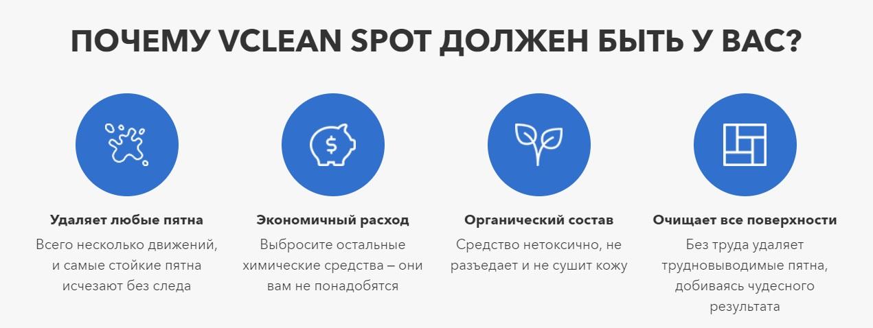Главные особенности Vclean Spot