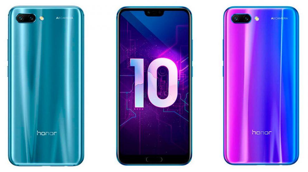 Цветовые решения копии смартфона Huawei Honor 10