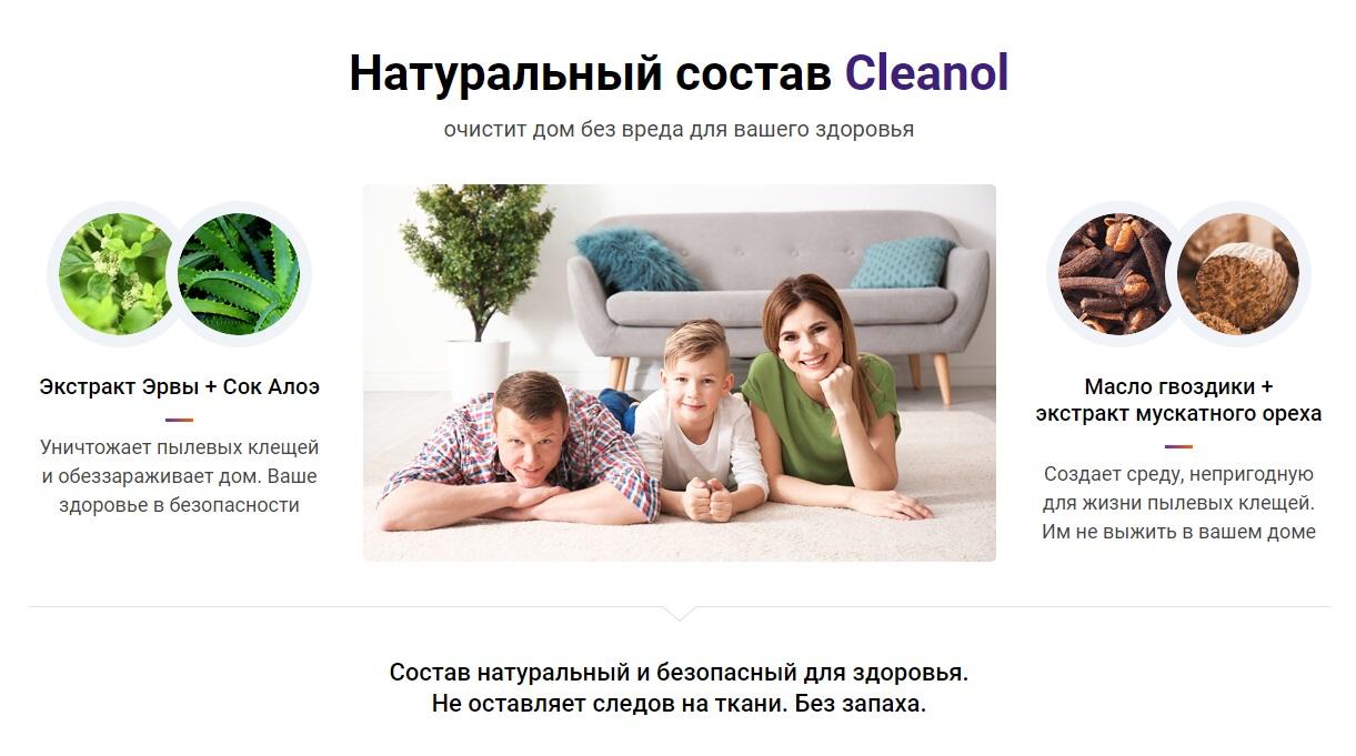 Что входит в состав Cleanol Home