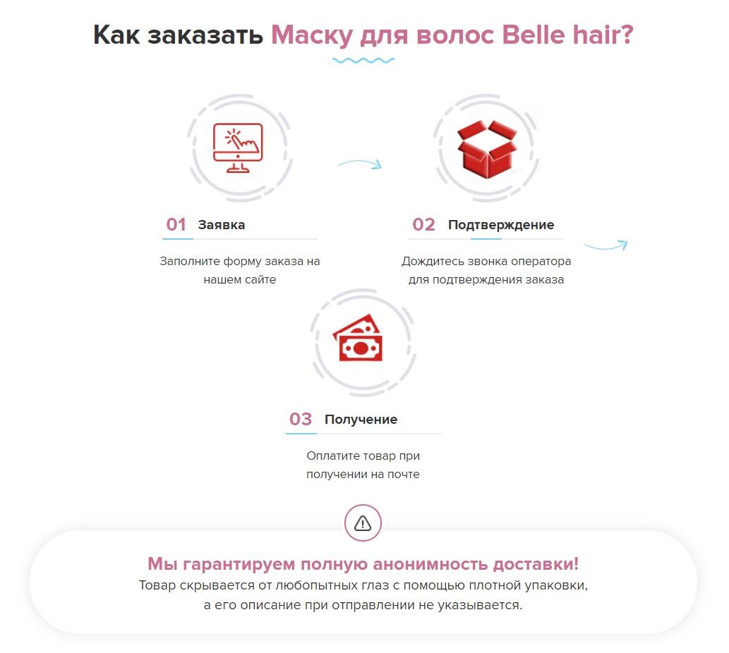 Как купить маску для лица Belle Hair